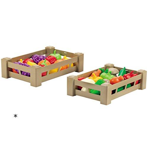 #11 Kiste mit Früchten oder Gemüse 26 cm - Zubehör Kaufladen Kinderküche Spiellebensmittel Kaufladenzubehör Spielküche