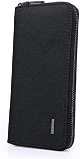 Kaka Mens Womens Oxford Material Long Large capacity clutch wallet purse for men womens (Black)