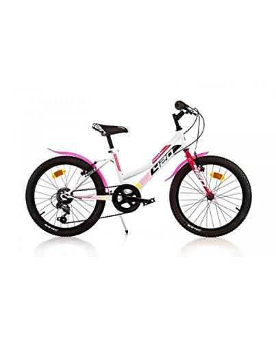 Dino Bikes 420 D serie MTB bicicletta 20' con cavalletto e freni V-brake per ragazze da 8 a 10 anni.