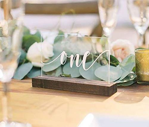 Amazon.com: Acrylic Table Numbers for Wedding with Stand  Clear