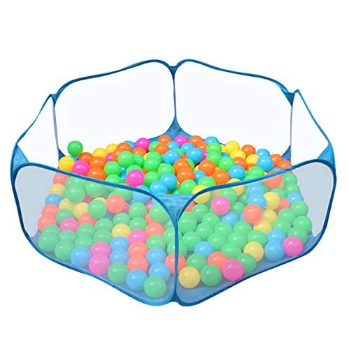 PRXD Bällebad Spielzelt für Kinder, 6-seitig Faltbare Bällebad Babyspielplatz Zelt tragbare Sechseck Pop-Up Ball Pool für Kleinkinder Indoor/Outdoor-Spielhaus (Bälle Nicht Inbegriffen)