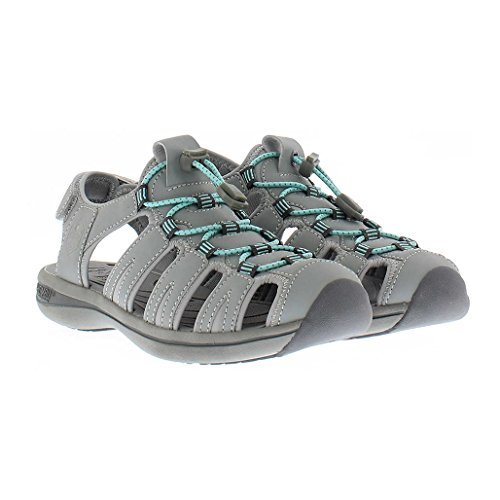 Khombu Sandal Ladies Ashley Active Sandal (8, Grey/Green)