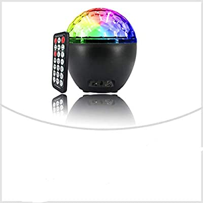 Ourine Christmas Disco Light RGB LED Party Light, Sound Activated Disco Ball Light with Remote Control for Kids Festiva lHalloween Birthday Party Bar