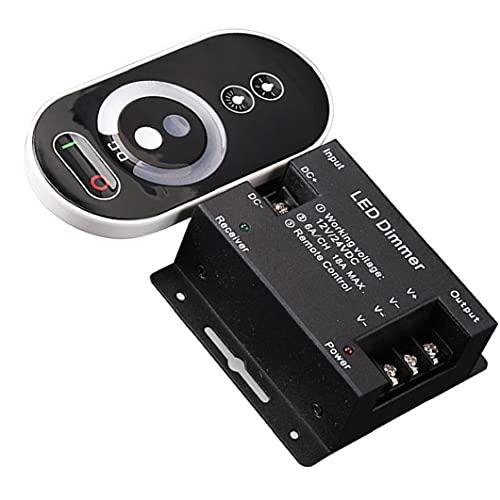 Ohomr LED Touch Dimmer 6 Teclas Interruptor Dimmer Inteligente con Control Remoto de Brillo inalámbrico (sin batería)
