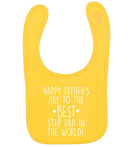 Flox Creative Bib Father's Day T-shirt Best Step Dad in The World