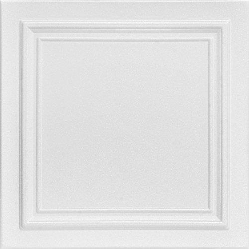 A la Maison Ceilings R24 Line Art Foam Glue-up Ceiling Tile (256 sq. ft./Case), Pack of 96, Plain White