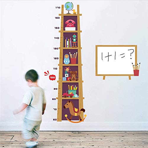 WLYUE Decal Mural Art Wall Sticker, Children Height Measure Wall Sticker For Kids Rooms 3d Effect Cupboard Growth Chart Whiteboard Wall Decals Art Poster Mural