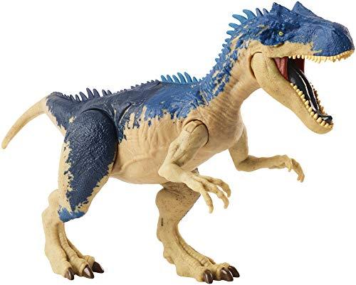 Jurassic World Mega Ataque Doble, Alosaurio, dinosaurio de juguete (Mattel...