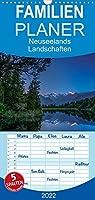 Neuseelands Landschaften - Familienplaner hoch (Wandkalender 2022 , 21 cm x 45 cm, hoch): Faszinierende Aufnahmen des wohl juengsten Lands der Erde (Monatskalender, 14 Seiten )