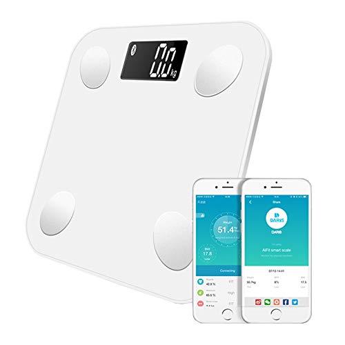 Mdsfe Bluetooth Badezimmer Boden Körperwaage Elektronisches wissenschaftliches digitales Gewicht Intelligentes Körperfett Gesundheit Gleichgewicht Fett Wasser Muskelmasse BMI - a3