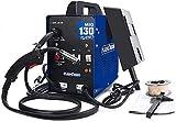 130A MIG Welder Gas and Gasless Welding Machine Flux Core Wire Automatic Feed No Gas Welder Machine Blue (110/220V, 60HZ)