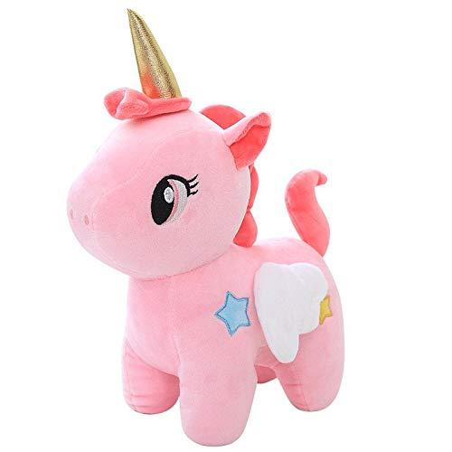 SKEIDO 1pc Cute Unicorn Plush Toy Fat Unicorn Doll Cute Animal Stuffed Soft Pillow Baby Kids Toys For Girl Birthday Christmas Gift for Kids Toy,25CM