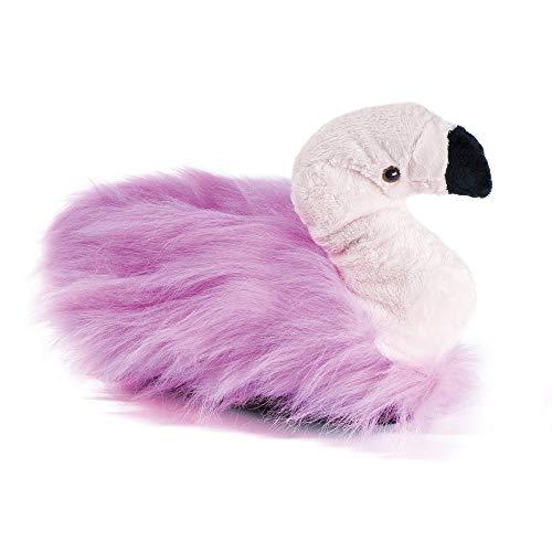 funslippers Damen Hausschuhe Tierhausschuhe Puschen Pantoffeln Schlappen Flamingo Plüsch Warm Innensohle Gepolstert Sneakersohle rutschfest S 36/38 EU