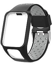 Vivitoch Tweekleurige siliconen vervanging horlogeband voor Tomtom Runner 2 3 Spark 3 GPS Horloge Fitness Tracker