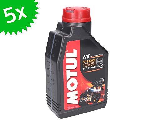 Aceite de motor Motul 4T 10W50 7100, 5 litros, 4 tiempos