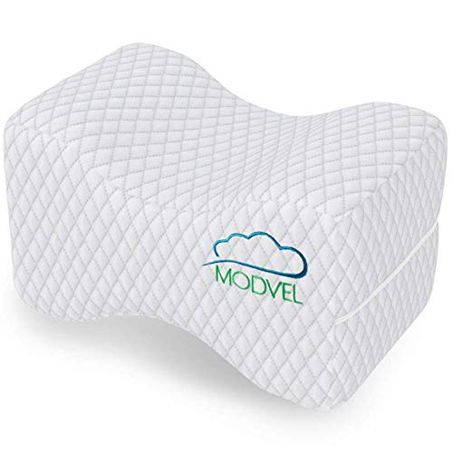 MODVEL Orthopedic Knee Pillow | Memory Foam Cushion For Hip, Sciatica & Lower Back Pain Relief |...
