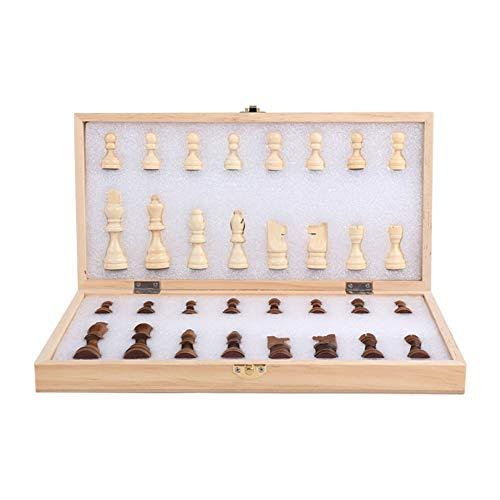 XWW Juego de ajedrez Internacional de Madera Hecho a Mano de Calidad, Tablero de Juego de Torneo con Caja de Almacenamiento, Tablero Educativo Tradicional