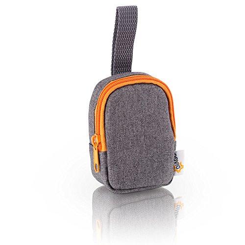 DIAGO 30050.75274 Deluxe Schnullertasche grau/orange