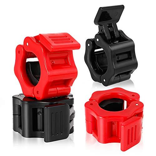 tiopeia 2 pares de 25 mm de cierre para mancuernas, para levantamiento de pesas, accesorios de entrenamiento