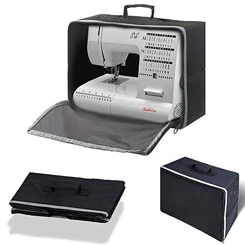 lembrd Bolsa para máquina de coser, funda protectora contra el polvo para máquina de coser, bolsa de la compra compatible con la mayoría de máquinas de coser estándar de Brother Singer