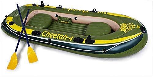 Zwembad, 4-persoons opblaasbare boot om peddels en handmatige luchtpomp PVC opblaasbare kajak 280 * 144CM te verzenden