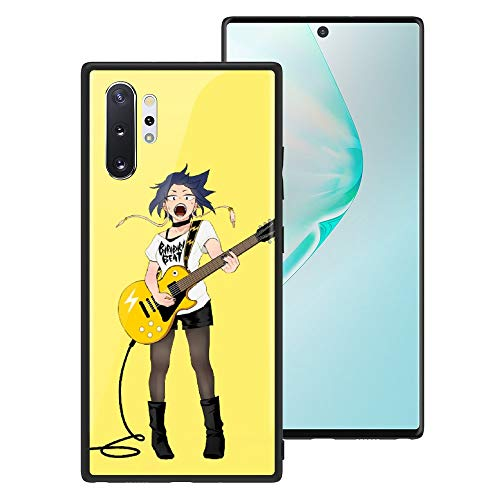 My Hero Academia Galaxy Note 10 Plus Phone Case, Toughened Tempered Glass Case Back Cover + Soft Silicone Bumper Shockproof Anti-Scratches Phone Case 303 Jiro kyoka for Galaxy Note 10 Plus
