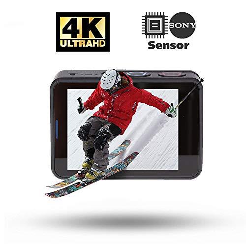 Rollei Actioncam 560 Touch – WiFi Action-Cam wasserdicht 4k 60 FPS – Sports-Cam mit Touchscreen, Unterwasser-Filter, Fotointervallaufnahmen mit 160° Super-Weitwinkel-Objektiv mit viel Zubehör - 4