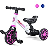 Peradix 3 in 1 Triciclo per Bambini | Triciclo Bambini 1 Anno con Pedali |Bici Senza...