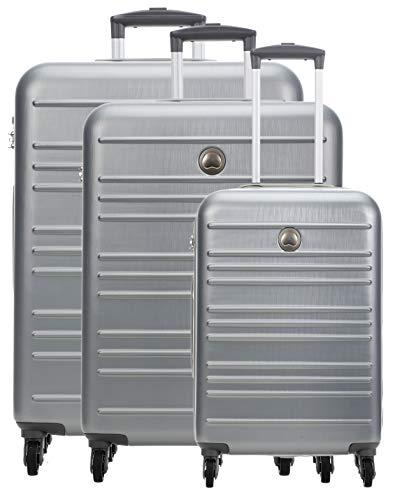Delsey Carlit Juego de maletas (4 ruedas) plata 76