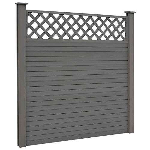 Tidyard Replacement WPC Fence Boards Garden Screen Fencing Board 7 pcs Grey170 x 20,3 cm (L x W)