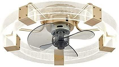 Moderno  50 cm Dormitorio de los niños Ventiladores de techo Luz 3 velocidades con temporizador Lámpara de ventilador regulable de temporizador Ventilador tranquilo estilo nórdico con luz de techo y