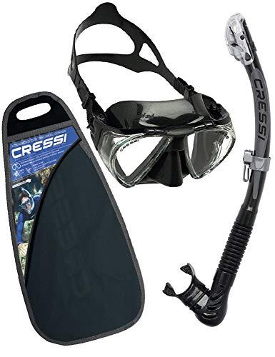 Cressi C/Set Penta + Alpha/ud Pack de Snorkel, Unisex, Negro, Talla Única