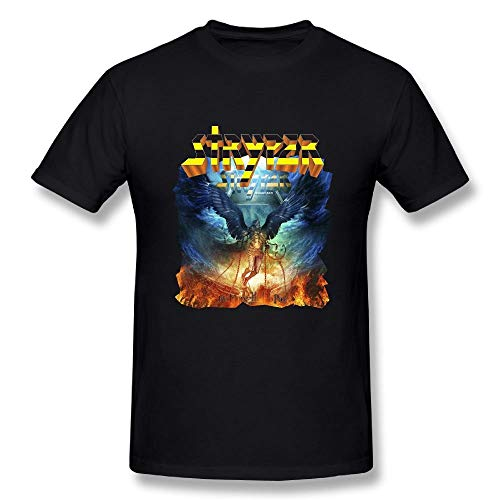 MinnSok Sportswear Herren Kurzarmhemd, Loyd D Men's Classic Stryper No More Hell to Pay Tees Black