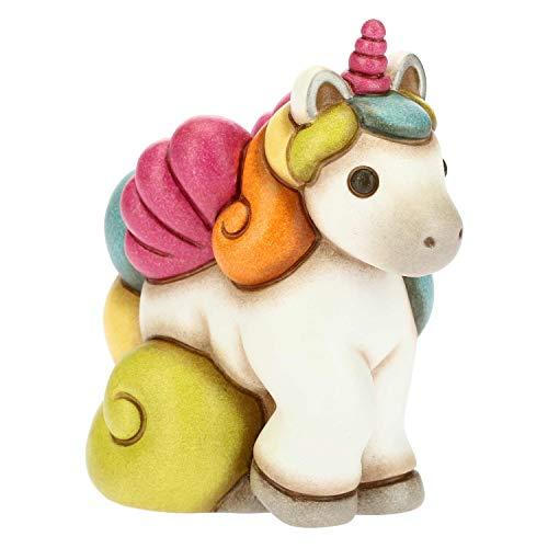 THUN - Soprammobile Unicorno Galoppante Multicolore - Accessori per la Casa - Linea Unicorno - Formato Piccolo - Ceramica - 9,3 x 5,5 x 10 h cm