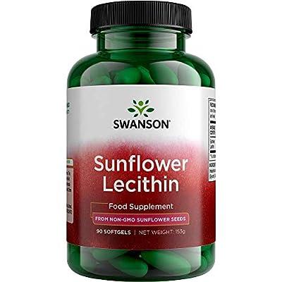 Swanson Sunflower Lecithin Non-GMO, 1,200 mg, 90 Softgels