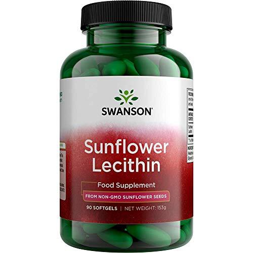 Swanson Sunflower Lecithin Non-GMO 1200 Milligrams 90 Sgels
