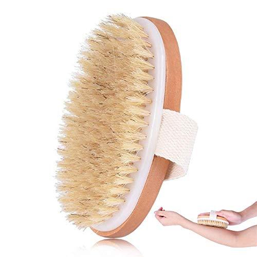 Voarge Badbürste, Hölzerne Massagebürste Badebürsten Duschbürste mit natürlichen Borsten zum Baden Duschen, Massagebürste für makellose Haut, Body Dry Brush