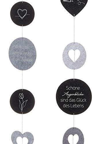 Bada Bing 2er Set Filz Girlande Ca. 145 cm mit Wunderschönen Sprüchen und Abbildungen Stilvolle Wand - Oder Fensterdekoration Deko Zum Hängen 2 Unterschiedliche Designs 31