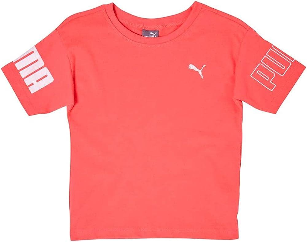 PUMA Toddler Girls Oversized Hi-Low T-Shirt Top - Pink