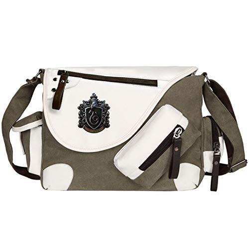 QLma Harry Potter Messenger Bag Hogwarts School Bag Bolsa de hombro Unisex Ciclismo Bolsa de viaje Onesize Brown-S