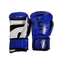 ボクシンググローブ、ボクシンググローブキッズ、トレーニンググローブ、ファイティングとキックボクシンググローブ、人工皮革ゲルファイトグローブ 6OZ blue