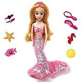 Unicqe Mermaid Princess Doll Splash and Play in Pool or...