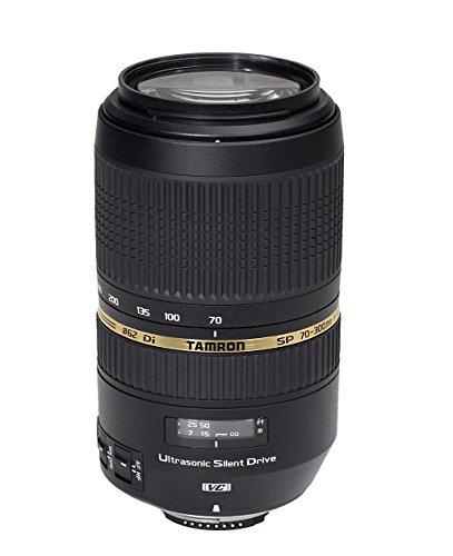 Tamron AF SP 70-300mm 4-5.6 Di VC USD digitales Objektiv für Nikon, Schwarz