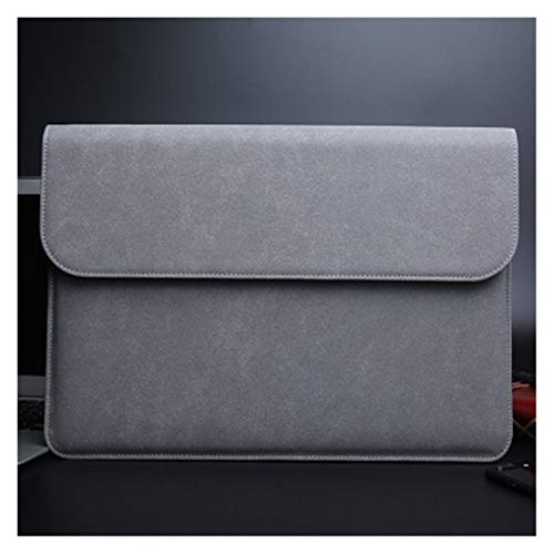 YTG Scrub pu computer liner bag 11 12 15 new 16 touch/ID bar women's men's cover (Color : Dark grey, Size : New 13 inch A1989)