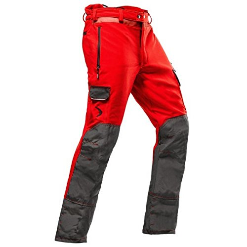 Pfanner leichte Schnittschutzhose zur Baumpflege Klasse 1, Größe:L, Farbe:rot
