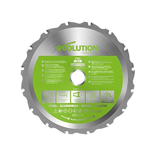 Evolution Power Tools - Hoja de sierra multiuso con punta de acero de carburo FURY, 165 mm
