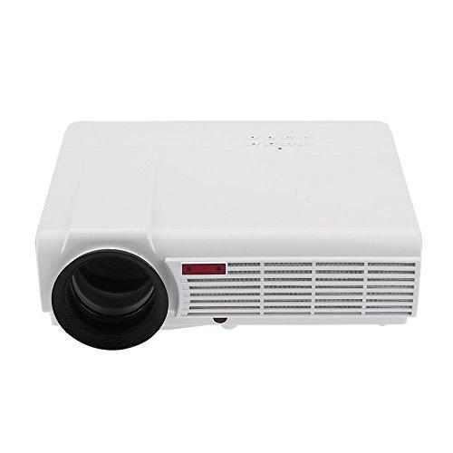 Gamogo LED-96 + Full HD 1080P Proyector 3000 Lúmenes Relación de Contraste Portátil 2000: 1 HDMI USB VGA Compatible with la Educación de Visita Personal de Entretenimiento de Cine en Casa