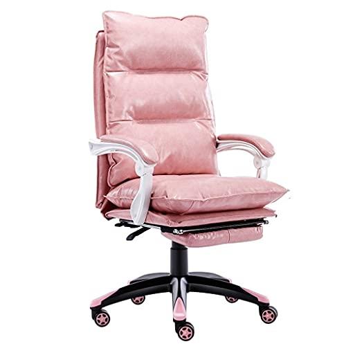 XKUN Computer Stuhl Heimnetz Promi Rosa Bürostuhl Niedliches Mädchen Schlafzimmer Ankerstuhl Gaming Sitz Gaming Stuhl Stilvoller Drehstuhl,Rosa,63 * 52 * 123Cm