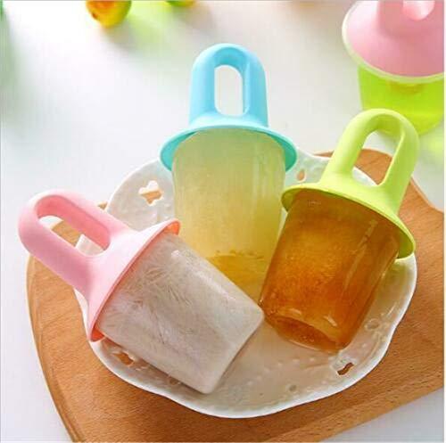 DEKA.O84 Eiscreme-Formen Baby Ice Frozen Moulds Lolly Popsicle Mould Set Eiscremeformen für Kinder , Kinder Erwachsene DIY Popsicle Mould (7 Stück)