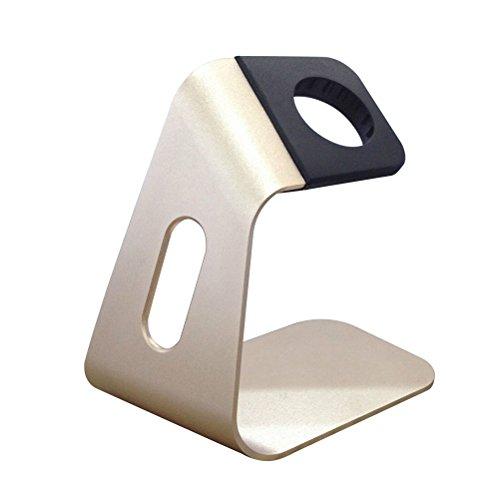 UEETEK Uhr Ständer Halter für Apple Watch,Montieren Ständer Halter Tischständer für Apple Watch(Gold)